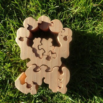 Standing Wooden Clown Puzzle