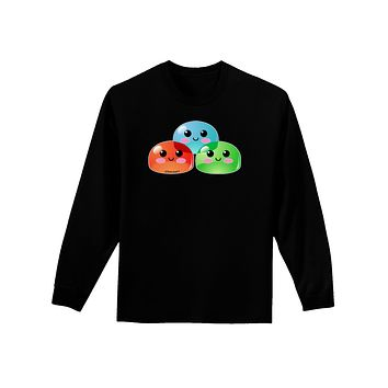 Cute RPG Slime - Trio Adult Long Sleeve Dark T-Shirt by TooLoud