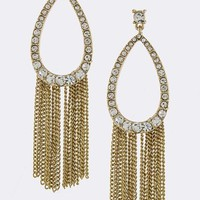 Sparkly Jeweled Fringe Earrings