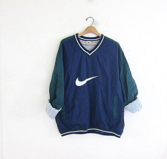 Vintage nike coed pullover windbreaker from dirty birdies for Old school nike shirts