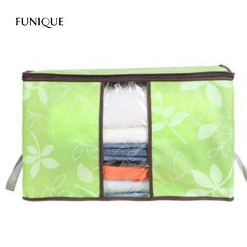 FUNIQUE Flowers Printed Non-woven Quilts Clothes Storage Bags Space Saver Comforter Blanket Pillow Bedding Storage Container Bag