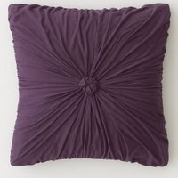 Rosette Euro Sham, Purple - Anthropologie.com