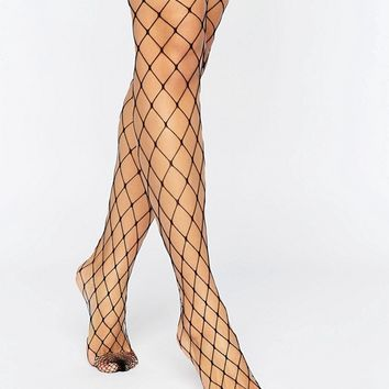 ASOS 2 Pack Oversized Fishnet Tights at asos.com