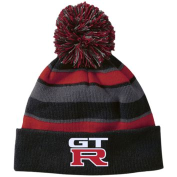 Nissan GTR 223835 Holloway Striped Beanie with Pom