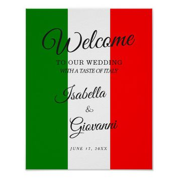 Welcome Sign | Italy Italian Wedding