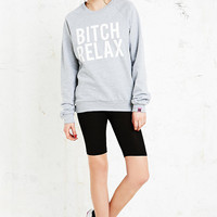 Married to the Mob B*tch Relax Sweatshirt in Grey - Urban Outfitters