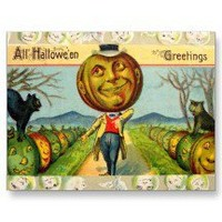 Vintage Halloween Card Post Card