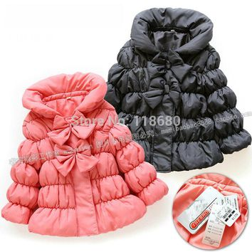 Free shipping new 2014 children's winter jacket baby clothing girls winter coat warm baby outerwear fashion cotton-padded jacket