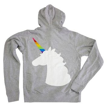 Pride Team Unicorn Fleece Hoodie Gray : Target