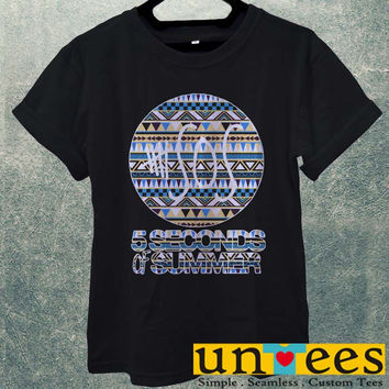 Low Price Men's Adult T-Shirt - 5sos 5 seconds of Summer on Classic Aztec design