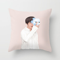 BTS Taehyung | Singularity Throw Pillow by marylobs