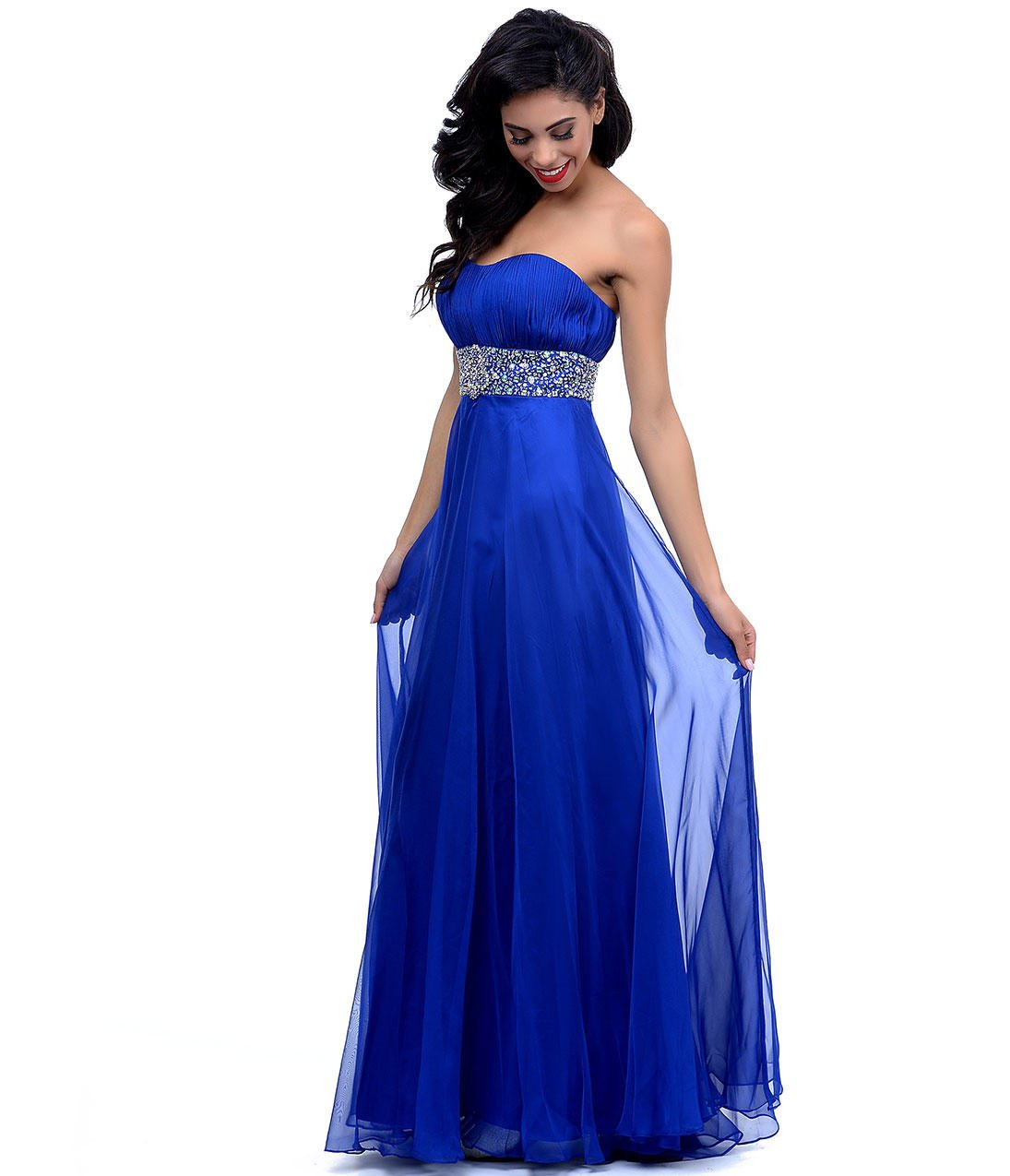 2014 Prom Dresses Royal Blue Beaded from Unique Vintage