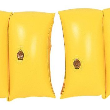 Set of 2 Yellow Inflatable Swimming Pool Arm Floats for Kids 3-6 Years