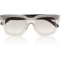 Linda Farrow - D-frame acetate and elaphe sunglasses