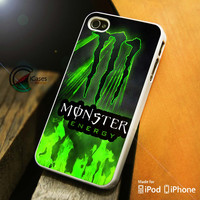 Monster energy on fire iPhone 4 5 5c 6 Plus Case, Samsung Galaxy S3 S4 S5 Note 3 4 Case, iPod 4 5 Case, HtC One M7 M8 and Nexus Case