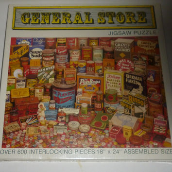 General Store Grocery Items 600 Piece Jigsaw Puzzle