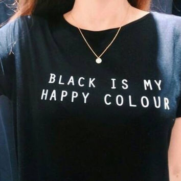 """Black Is My Happy Color"" Tee"