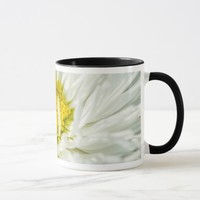 White English Daisy Flower Mug