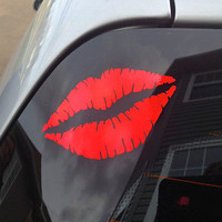 1 Pcs Funny lip kiss Print Sticker DIY Decal For Car door Room Car Decal  AU3C