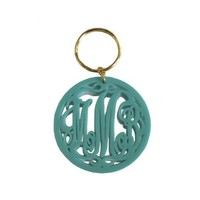 Acrylic Monogram Key Chain {23 Color Options}