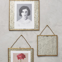 Brass Hanging Picture Frame
