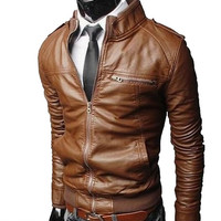 Men's Korejski Biker Leather Jacket Jedan | Style and Decor