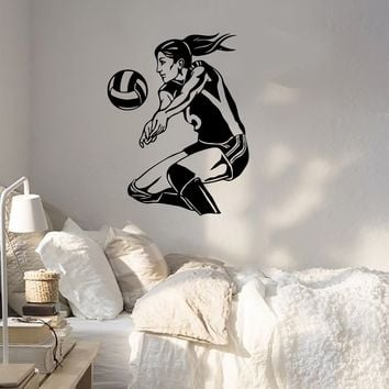 Shop Volleyball Decal On Wanelo - Sporting wall decals