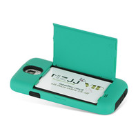 DW Fusion Candy Credit Card Case for Samsung Galaxy S4 IV - Turquoise