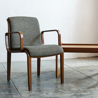 Knoll Arm Chair with Bent Wood Arms, Mid-Century Modern Classic