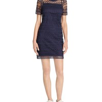 Lucy ParisHigh Neck Overlay Dress