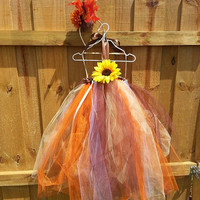 Scarecrow tutu dress w/ Hat/Headband Fall dress