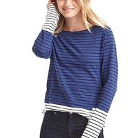 Stripe colorblock long sleeve tee | Gap