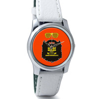 With Great Beard Comes Great Responsibility Wrist Watch