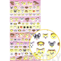 Small Puppy Dog Face Shaped Animal Puffy Sticker Seals | Cute Animal Inspired Scrapbook Decorating Supplies