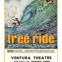 1978 Free Ride Surf Movie Ad Fine Art Print