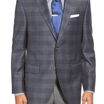 David Donahue 'Connor' Classic Fit Plaid Wool Sport Coat,