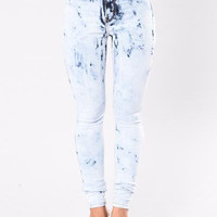Electric Lady Acid Wash High Wasited Jeans