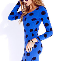Standout Sketch Dot Bodycon Dress