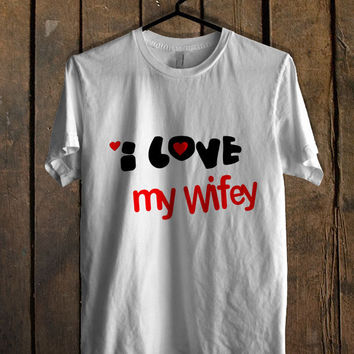 love wifey and hubby couple men T Shirt Mens T Shirt and Womens T Shirt **