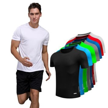 Shirt Homme Running Men Designer Quick Dry T-Shirts Running Slim Fit Tops Tees Sport Men 's Fitness Gym T Shirts Muscle Tee