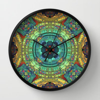 Color and Symmetry Wall Clock by Lyle Hatch | Society6