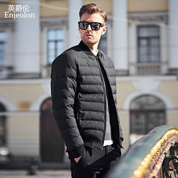 winter Cotton Padded Jacket Windproof Parka Men stand collar Clothing Thick Quilted Coat Men