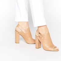 Faith Dre Nude Peep Toe Shoe Boots