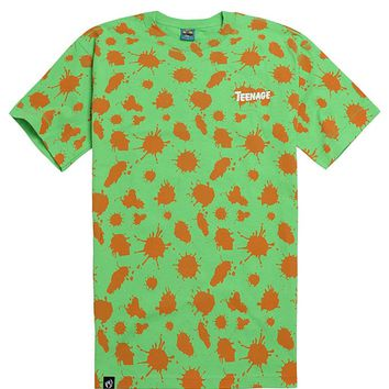 Teenage Splat T-Shirt - Mens Tee - Green
