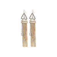 River Island Womens Gold tone dangly gem earrings