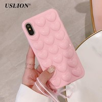 Love Heart Full Protect Phone Case For Iphone X 10 0916-14