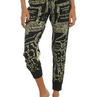 Harry Potter Solemnly Swear Marauder's Map Reversible Girls Jogger Pants