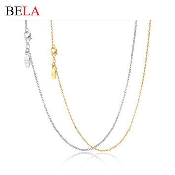 Bassic Women Necklace Silver/Gold Fashion 925 Silver Charm Fit Pandora Necklace Snake