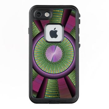 Round And Colorful Modern Decorative Fractal Art LifeProof® FRĒ® iPhone 7 Case