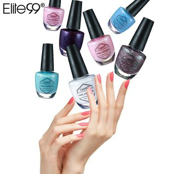 Elite99 10ml Nail Lacquer Quick Drying Manicure Nail Polishes 59 Colors Available Finger Nail Varnishes Nail for Art Stamping